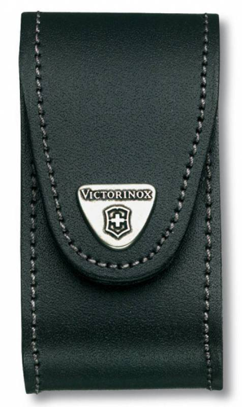 Чехол Victorinox 4.0521.31B кожа с застежкой Velkro для ножей 91мм 5-8 уровней в пакете черный чехол victorinox для ножей 91 мм 5 8 уровней с отд для фонаря и точильного камня кожаный чёрный