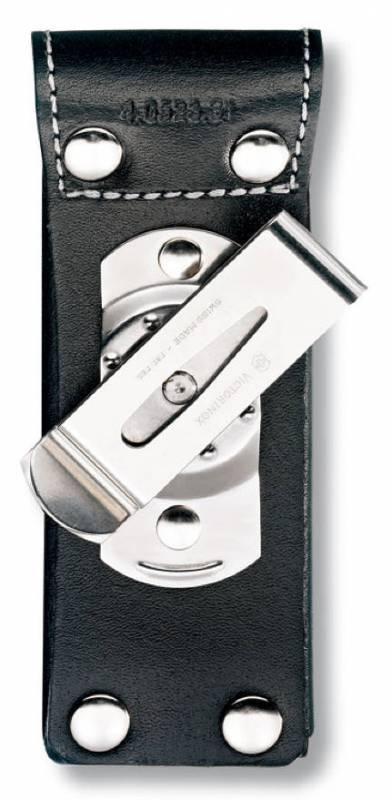 Чехол Victorinox 4.0523.31 кожаный для ножей 111мм до 3 уровней с поворотным механизмом черный