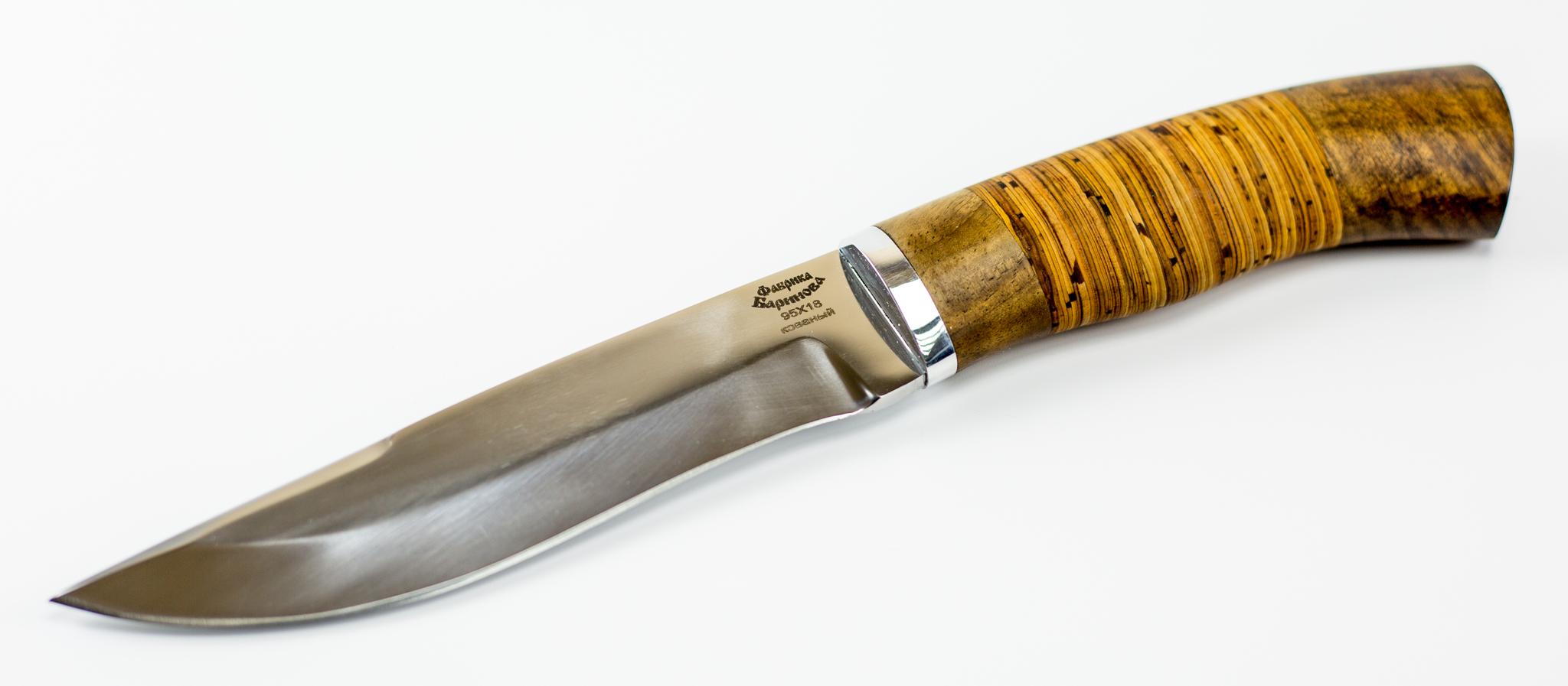 Фото 8 - Нож Южный-2, сталь 95Х18, рукоять береста от Фабрика Баринова