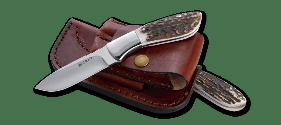 Фото 9 - Нож с фиксированным клинком CRKT Grandpa's Favorite, сталь 12C27 Sandvik, рукоять Резной олений рог
