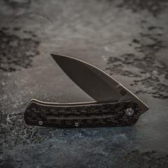 Складной нож Artisan Centauri, сталь дамаск, карбон/титан, фото 6