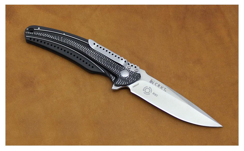 Фото 7 - Складной нож CRKT Ripple Charcoal, сталь Acuto 440, рукоять нержавеющая сталь 420J2