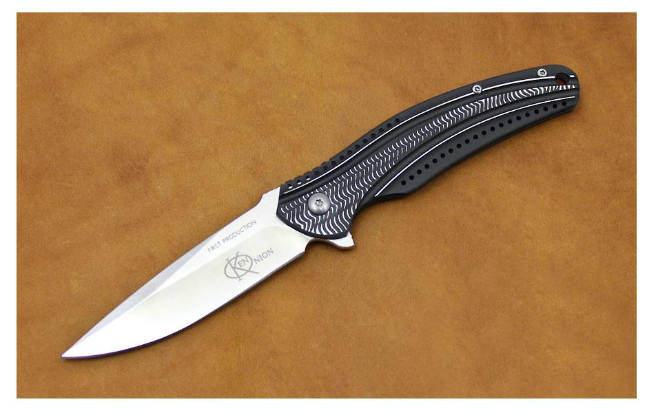 Фото 8 - Складной нож CRKT Ripple Charcoal, сталь Acuto 440, рукоять нержавеющая сталь 420J2