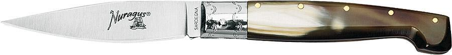NURAGUS - нож складн, клинок 9 см, сталь 420С, рукоять рог от Fox