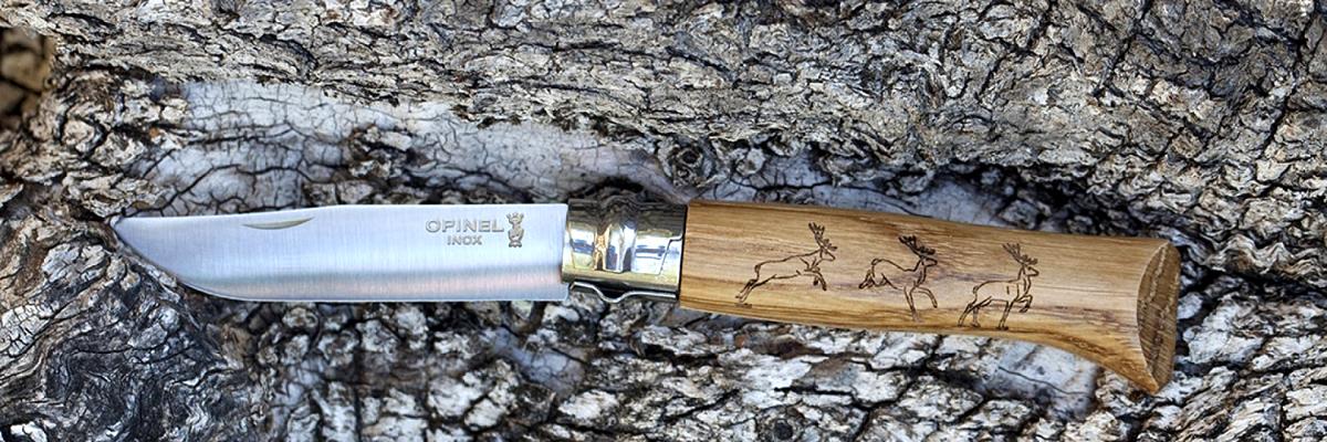 Фото 8 - Складной Нож Opinel №8 VRI Animalia Deer, нержавеющая сталь Sandvik 12C27, 001620, гравировка олень