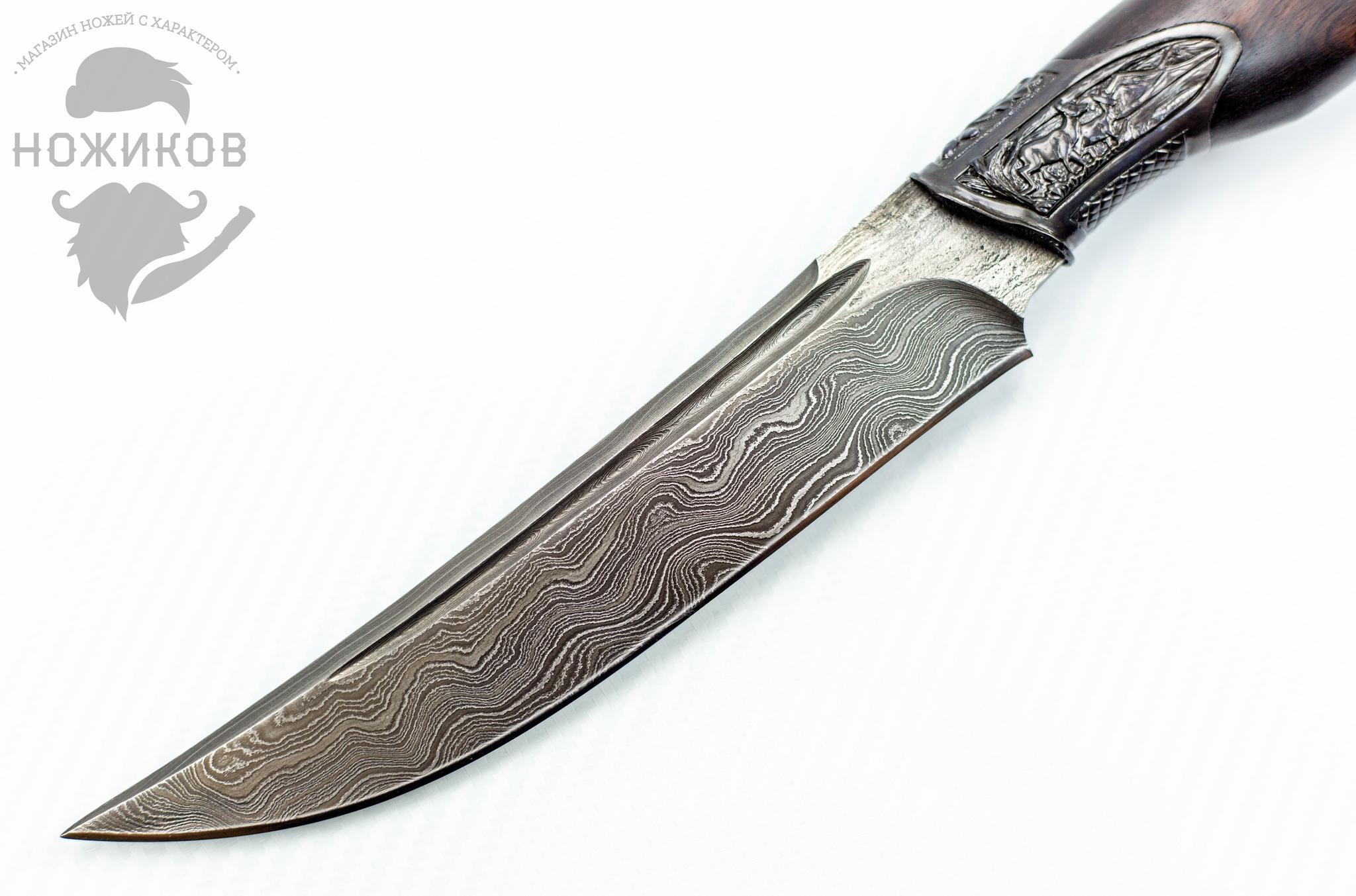 Фото 10 - Авторский Нож из Дамаска №51, Кизляр