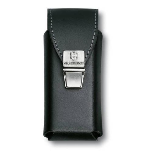 Чехол Victorinox 4.0833.L2 кожаный для мультитулов SwissTool Plus замок с пружинной защелкой черный чехол на ремень victorinox для мультитулов swisstool spirit кожаный коричневый
