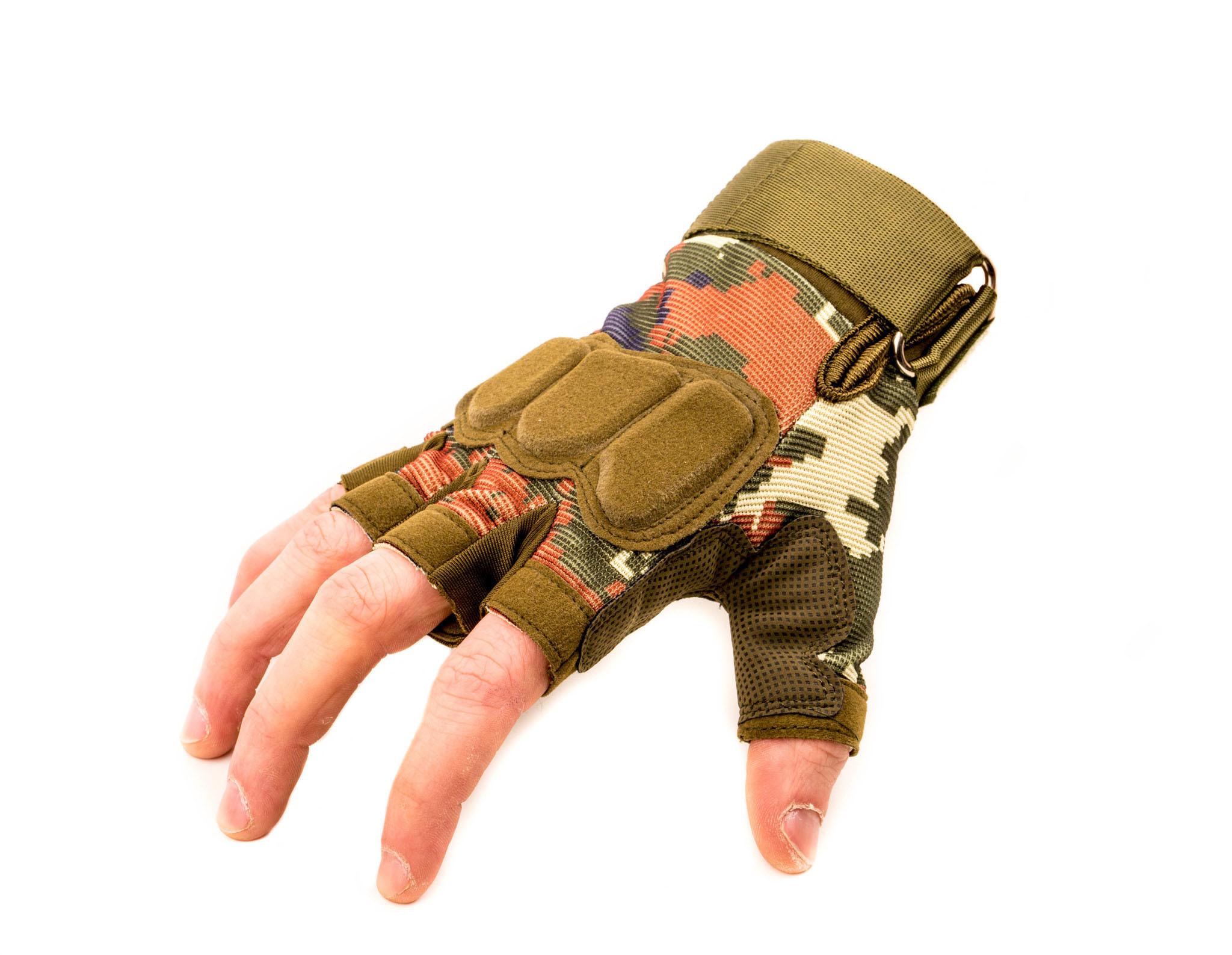 Тактические перчатки без пальцев Forest, размер XL от China Factory