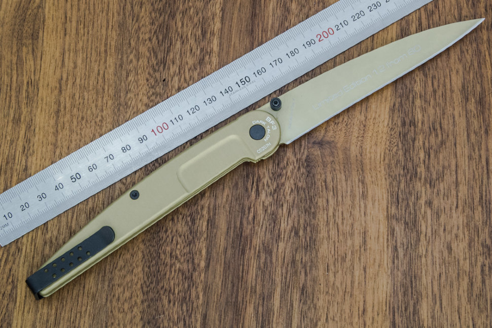Фото 7 - Складной нож Extrema Ratio BF3 Dark Talon Gold Limited, сталь Bhler N690, рукоять алюминий