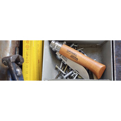 Складной нож Opinel №2, сталь AFNOR XC90 Carbon Steel, рукоять бук, 111020, фото 5