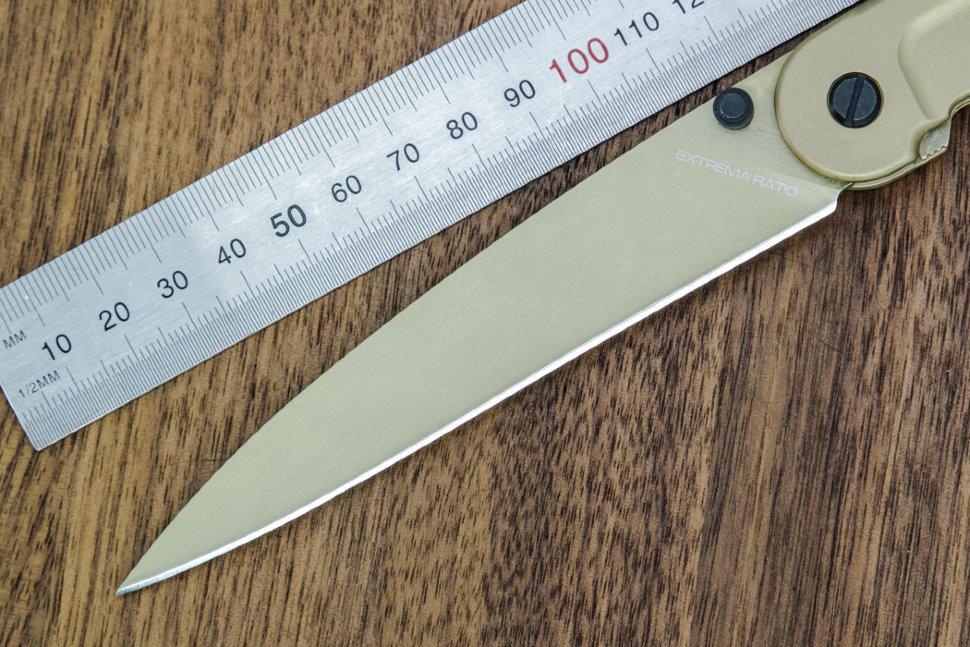 Фото 9 - Складной нож Extrema Ratio BF3 Dark Talon Gold Limited, сталь Bhler N690, рукоять алюминий