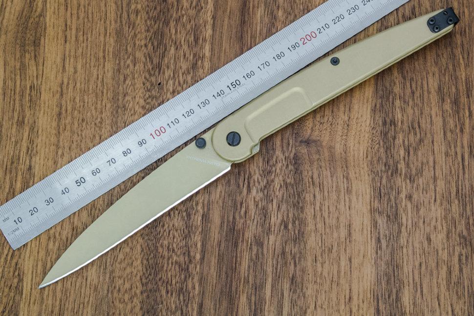 Фото 10 - Складной нож Extrema Ratio BF3 Dark Talon Gold Limited, сталь Bhler N690, рукоять алюминий