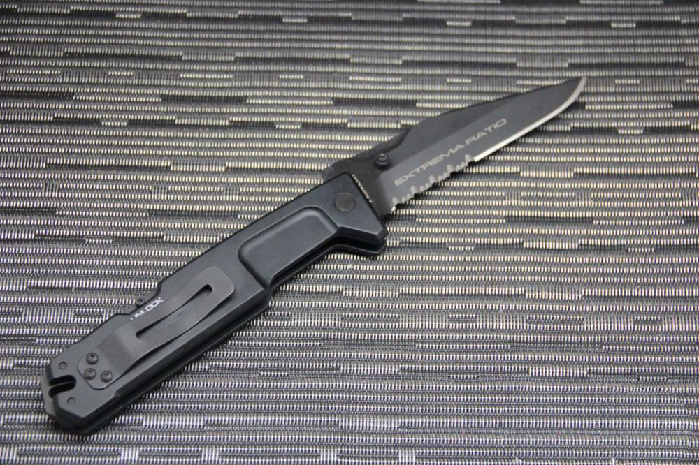 Фото 9 - Складной нож Extrema Ratio M.P.C. (Multi Purpose Compact) Black, сталь Bhler N690, рукоять черный антикородал (алюминиевый сплав)