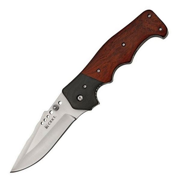 Полуавтоматический складной нож Natural 2 - Cocobolo with G10 Bolster, CRKT 7080W, сталь 8Cr13MOV, рукоять дерево кокоболо