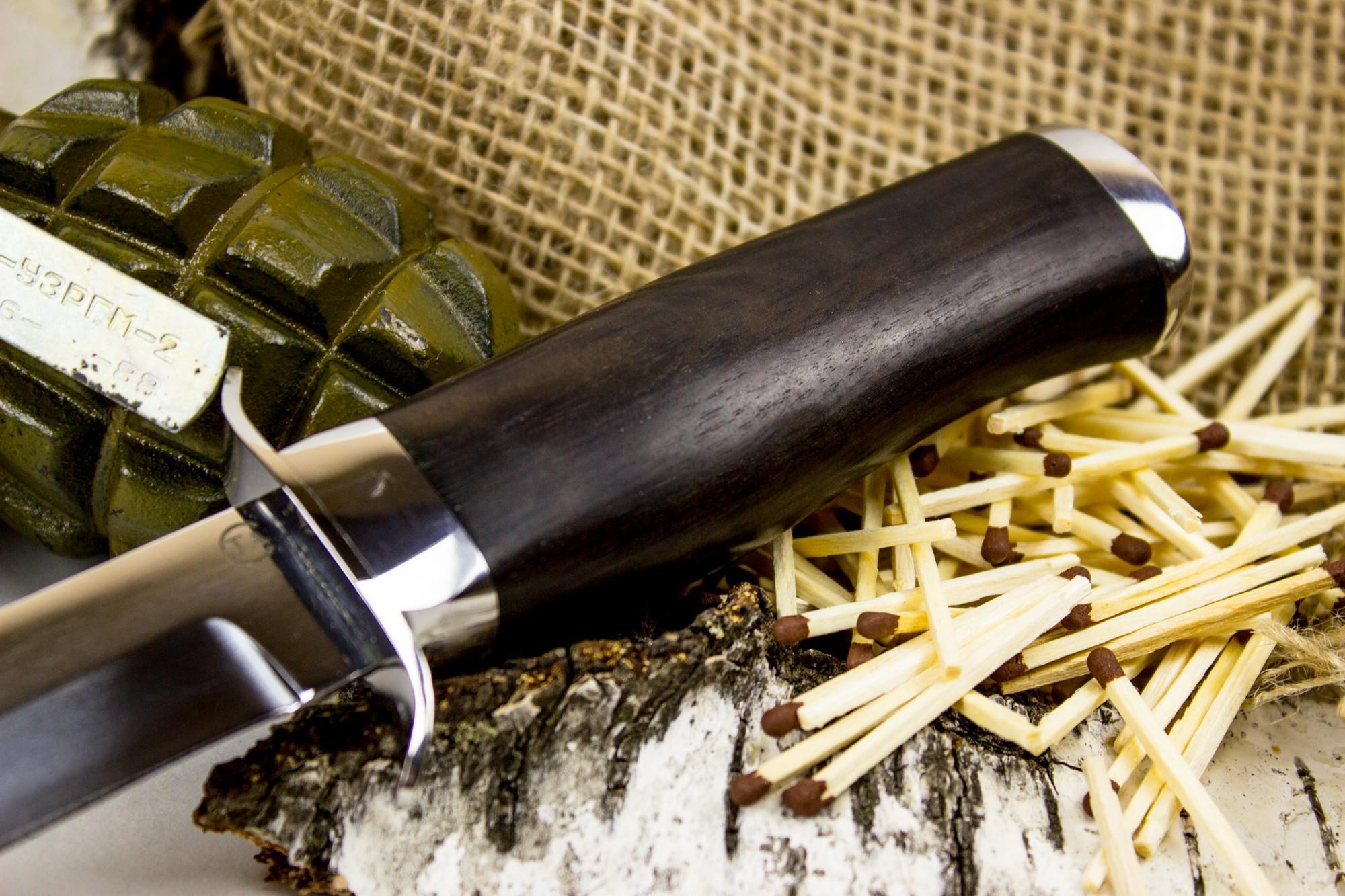 Фото 8 - Нож Спецназ Вишня, сталь 95х18, граб от Титов и Солдатова