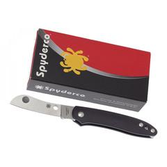 Нож складной Roadie™ Spyderco 189PBK TSA Knife (Transportation Security Administration), сталь N690Co Satin Plain, рукоять термопластик FRN, чёрный, фото 4