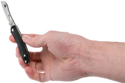 Нож складной Roadie™ Spyderco 189PBK TSA Knife (Transportation Security Administration), сталь N690Co Satin Plain, рукоять термопластик FRN, чёрный. Вид 5