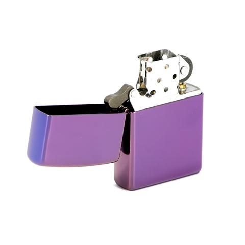 Зажигалка ZIPPO Abyss Classic, латунь с покрытием, фиолетовый, глянцевая, 36х12x56 мм. Вид 2