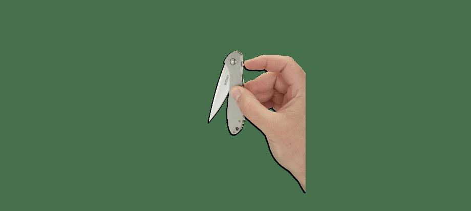 Фото 12 - Складной нож CRKT Eros Large - Flat Handle, сталь AUS 8, рукоять сталь 420J2