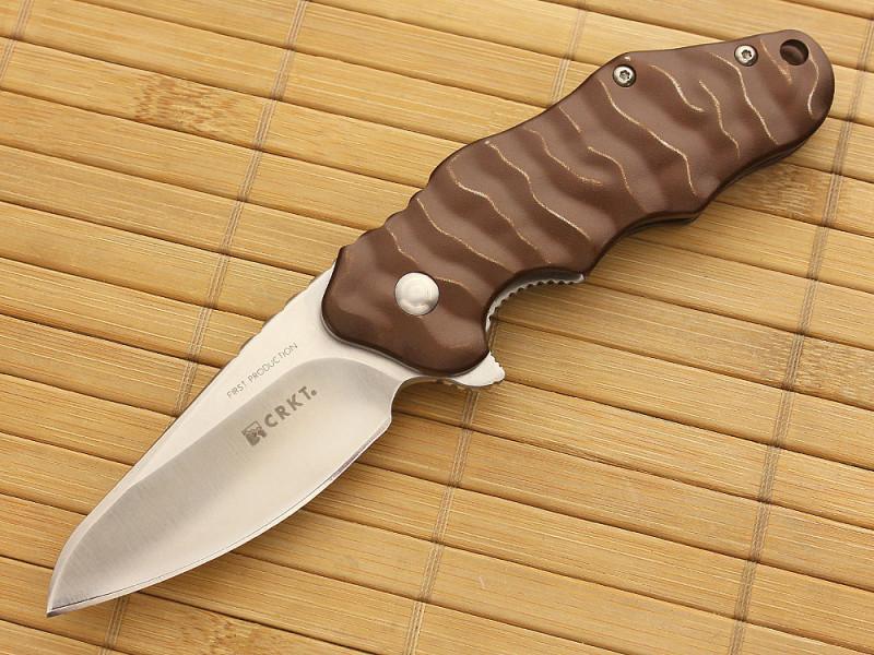 Фото 17 - Нож складной CRKT Onion Wrinkle 2, сталь Aus 8, рукоять алюминий