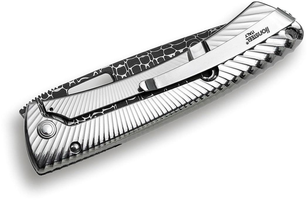 Фото 3 - Нож складной LionSteel TS1DL GS, дамасская сталь, рукоять титан от Lion Steel