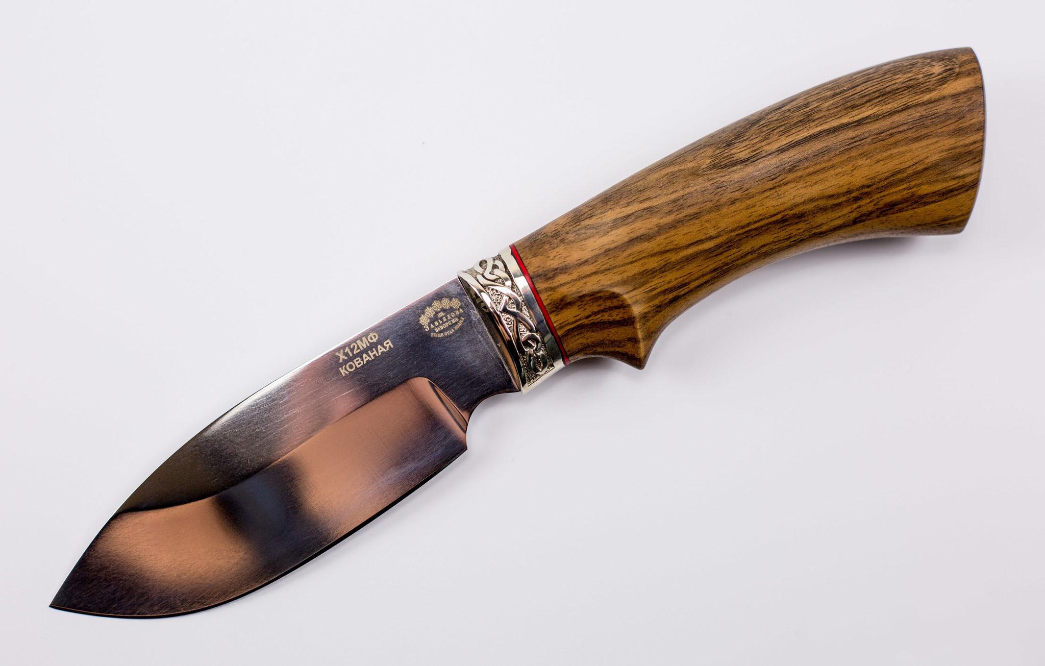 Фото 13 - Нож Бобер, сталь Х12МФ, рукоять дерево от Кузница Завьялова