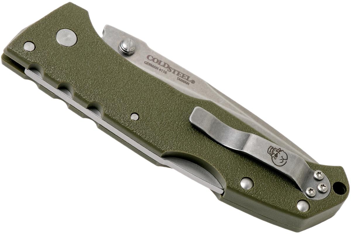Фото 9 - Складной нож Working Man, German 4116 Krupp Stainless Blade, Olive Drab Green GFN Handles 8.89 см. от Cold Steel