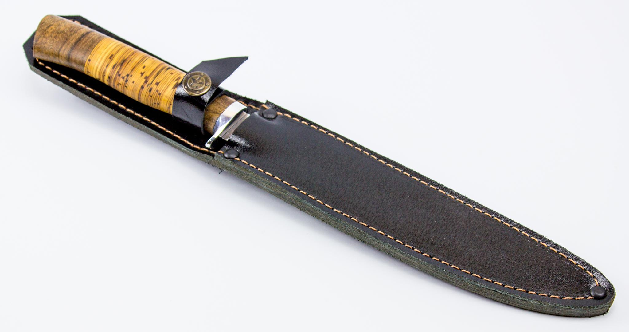 Фото 6 - Нож филейный Нерпа 65х13, береста от Фабрика Баринова