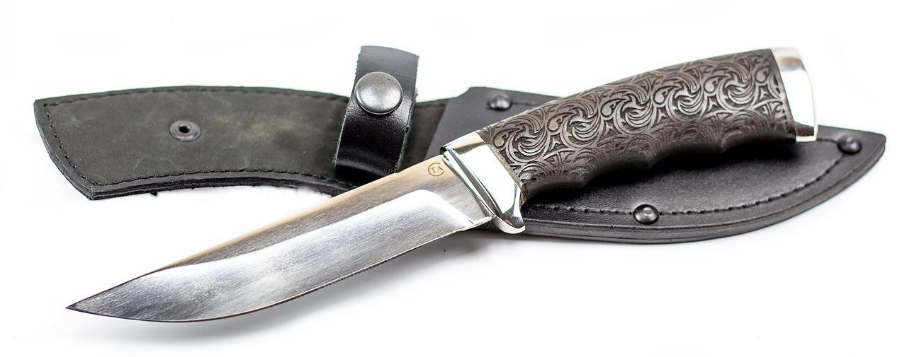 Фото 11 - Нож Кобра-3, резной граб, 95х18 от Титов и Солдатова