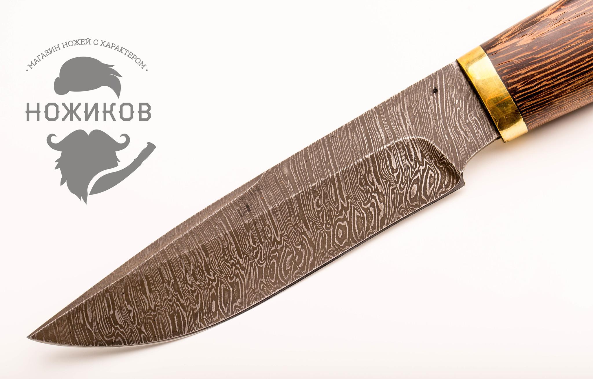 Фото 11 - Нож Леший, сталь дамаск, венге от Промтехснаб