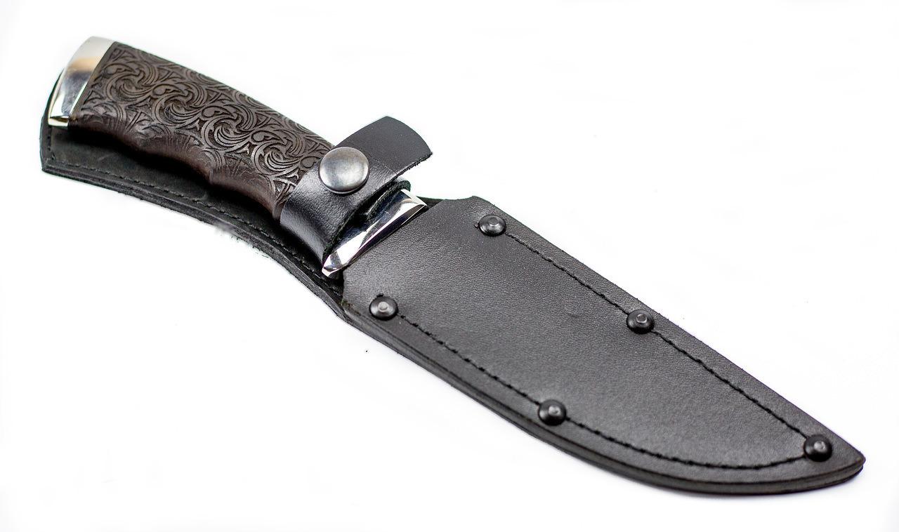 Фото 12 - Нож Кобра-3, резной граб, 95х18 от Титов и Солдатова