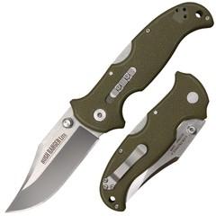 Складной нож Bush Ranger Lite - Cold Steel 21A, клинок из стали 8Cr13MoV, рукоять GFN (пластик) зеленая, фото 1