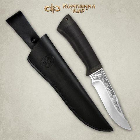 Нож АиР Стрелец, сталь К-340, рукоять кожа. Вид 6