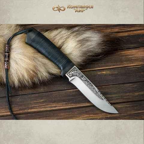 Нож АиР Стрелец, сталь К-340, рукоять кожа. Вид 1