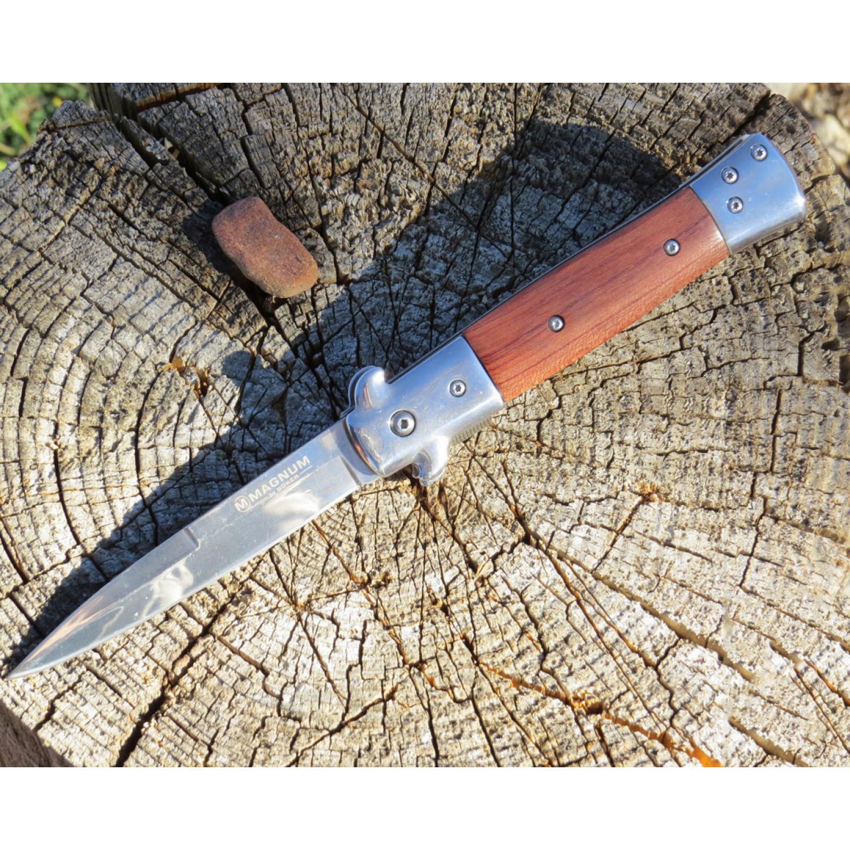 Фото 8 - Складной нож Magnum Italian Classic - Boker 01LL310, сталь 440A Polished, рукоять дерево палисандр, коричневый
