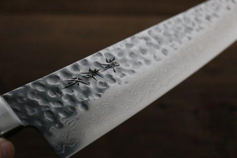 Нож Гранд Шеф 240 мм, Sakai Takayuki, сталь VG-10 Damascus, рукоять махагон. Вид 9