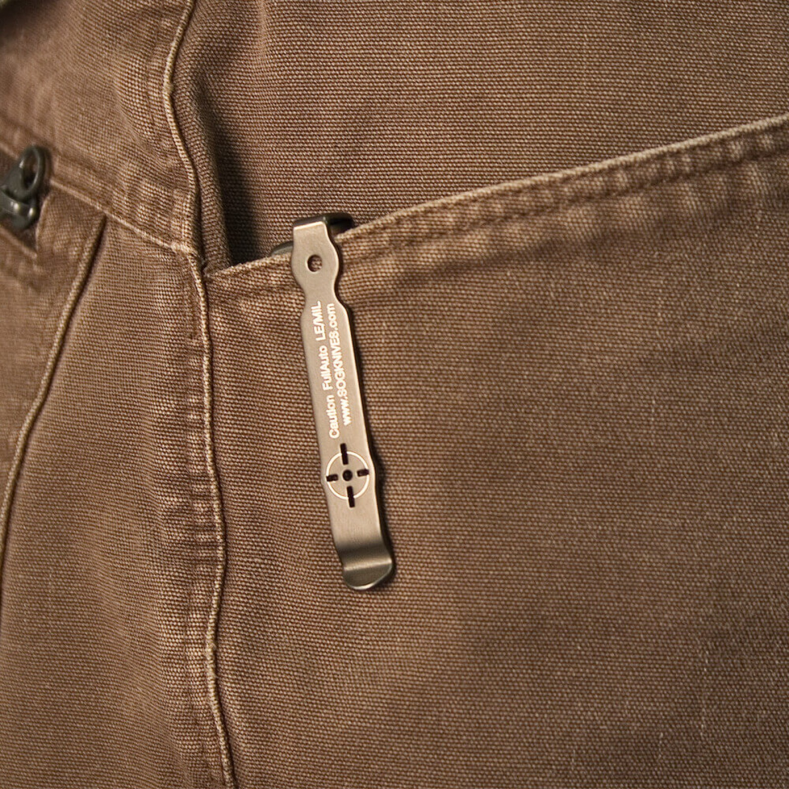 Фото 5 - Складной автоматический нож SOG-TAC Mini ST11, сталь Aus 8, рукоять алюминий