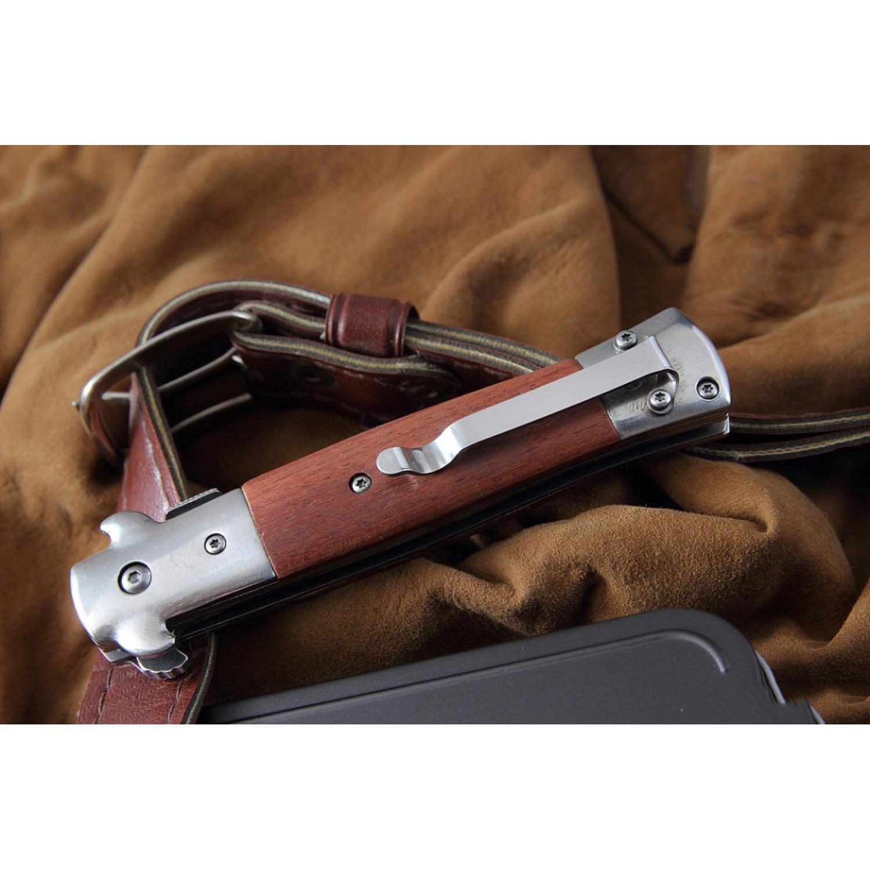 Фото 10 - Складной нож Magnum Italian Classic - Boker 01LL310, сталь 440A Polished, рукоять дерево палисандр, коричневый