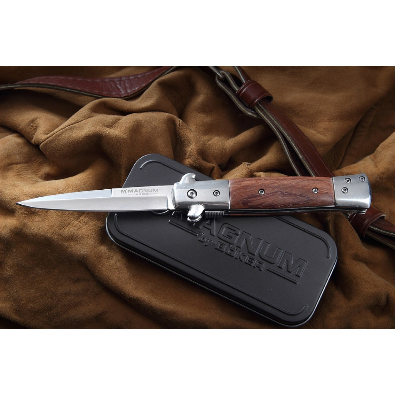Фото 11 - Складной нож Magnum Italian Classic - Boker 01LL310, сталь 440A Polished, рукоять дерево палисандр, коричневый