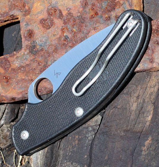 Фото 10 - Нож складной UK Penknife Spyderco 94PBK, сталь Carpenters CTS® BD1 Alloy Satin Plain, рукоять термопластик FRN, чёрный