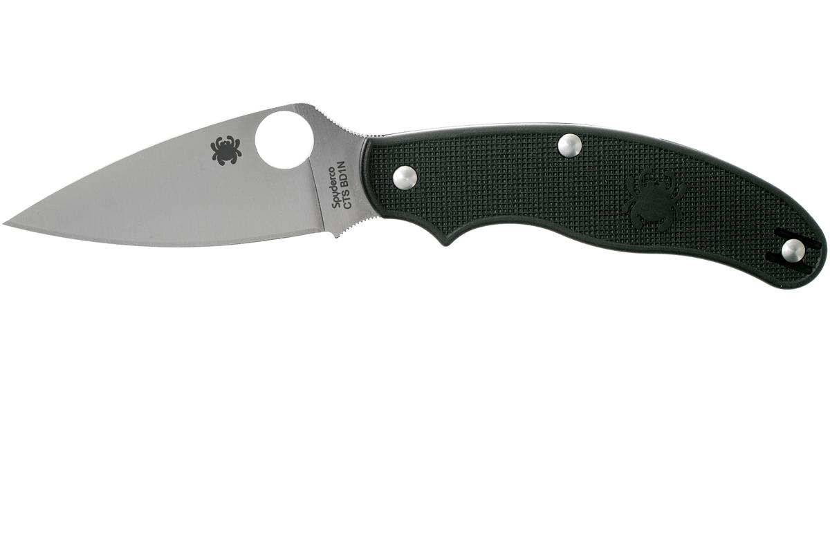 Фото 15 - Нож складной UK Penknife Spyderco 94PBK, сталь Carpenters CTS® BD1 Alloy Satin Plain, рукоять термопластик FRN, чёрный