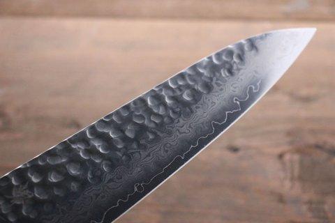 Нож Гранд Шеф 240 мм, Sakai Takayuki, сталь VG-10 Damascus, рукоять махагон. Вид 11