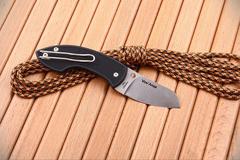 Нож складной Pingo Spyderco 163PBK, сталь N690Co Satin Plain, рукоять термопластик FRN, чёрный
