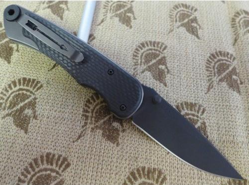 Фото 7 - Нож складной Spartan Blades Akribis Meteorite Grey, сталь CPM-S35VN с DLC покрытием, рукоять титан/карбон Scales