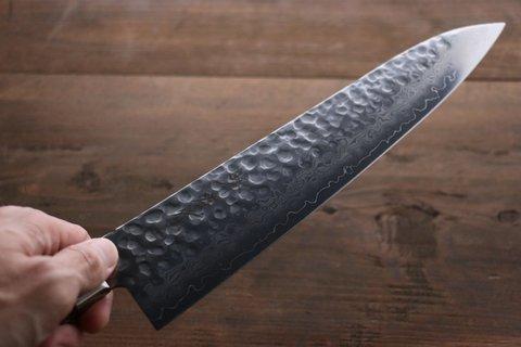 Нож Гранд Шеф 240 мм, Sakai Takayuki, сталь VG-10 Damascus, рукоять махагон. Вид 12
