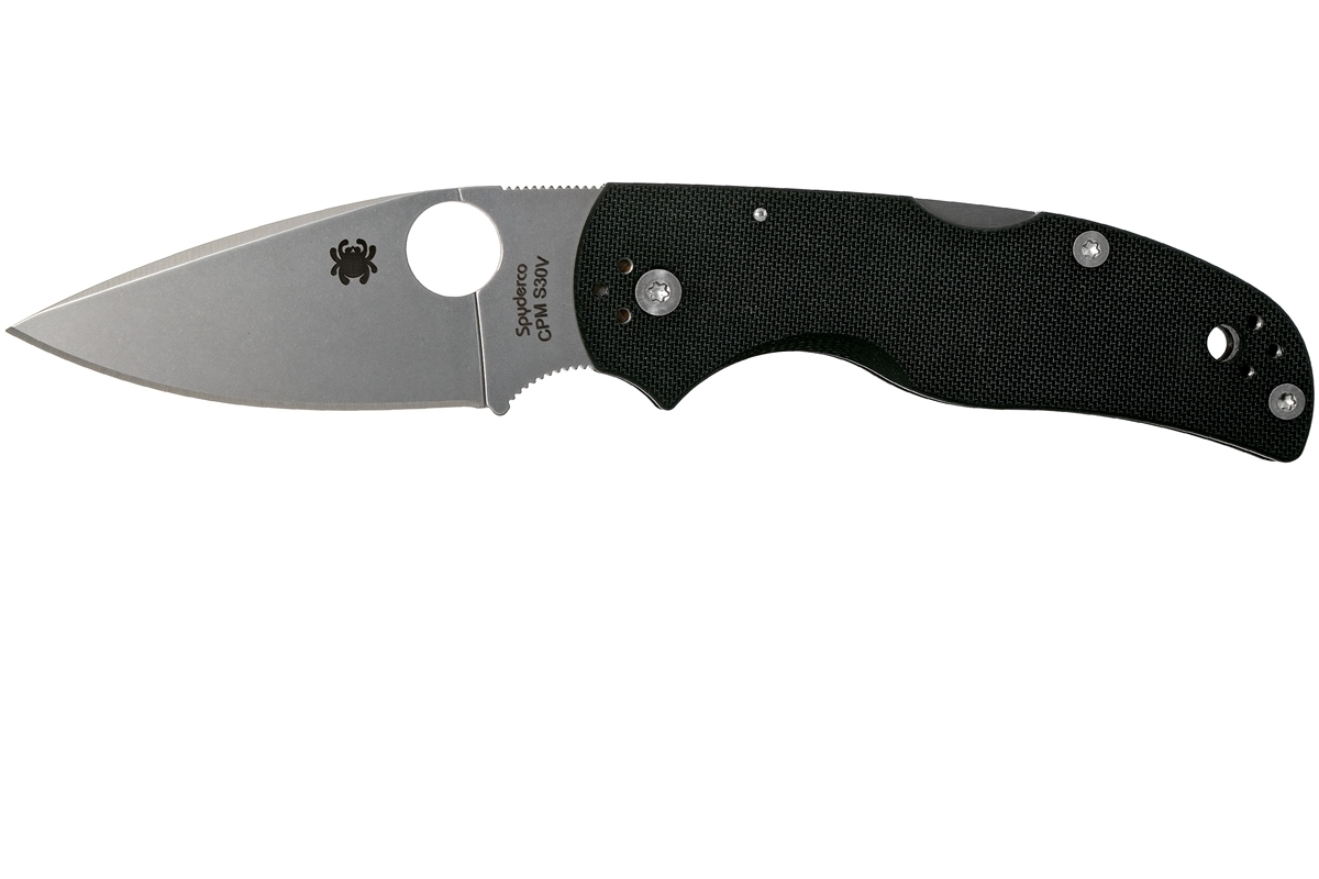 Фото 7 - Нож складной Native 5 - Spyderco C41GP5, сталь Crucible CPM® S30V™ Satin Plain, рукоять стеклотекстолит G10, чёрный
