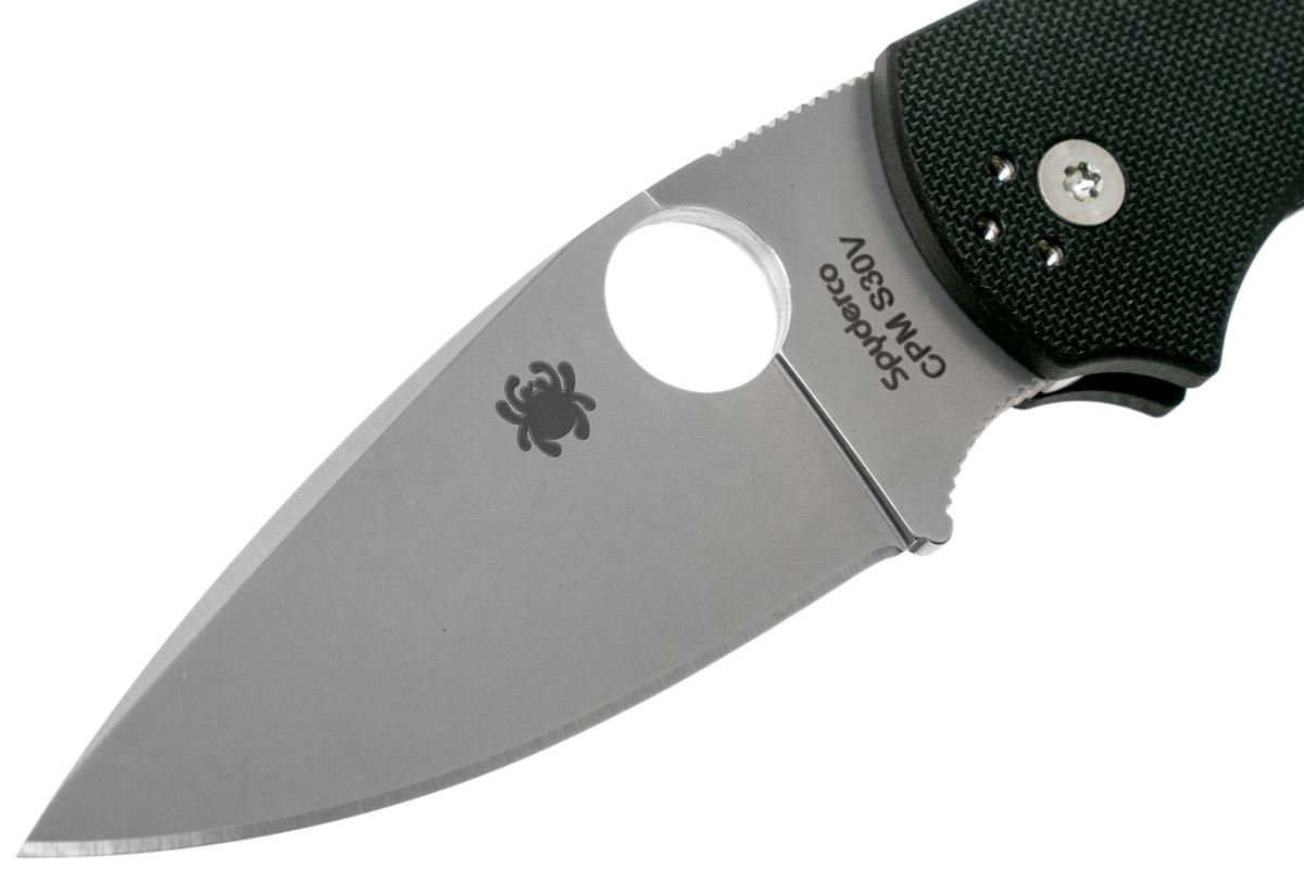 Фото 9 - Нож складной Native 5 - Spyderco C41GP5, сталь Crucible CPM® S30V™ Satin Plain, рукоять стеклотекстолит G10, чёрный