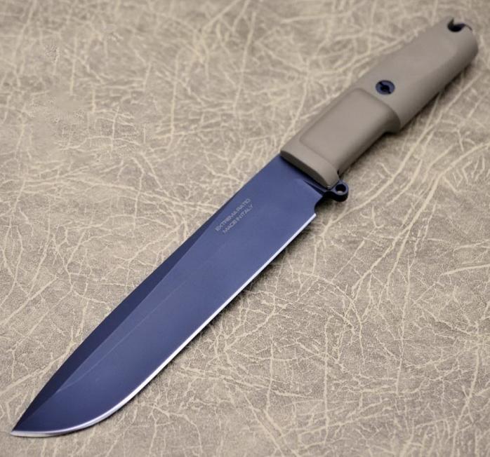 Фото 5 - Нож с фиксированным клинком Extrema Ratio TFDE 19 Black Blade, cталь Bhler N690, рукоять прорезиненный форпрен