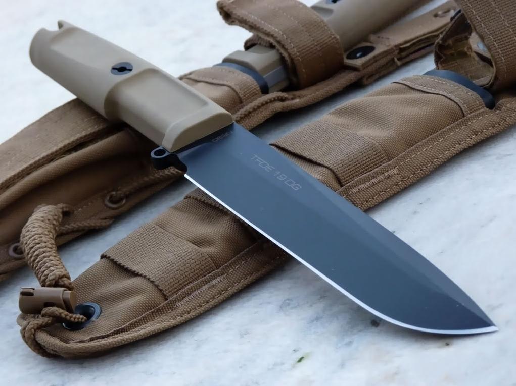Фото 6 - Нож с фиксированным клинком Extrema Ratio TFDE 19 Black Blade, cталь Bhler N690, рукоять прорезиненный форпрен