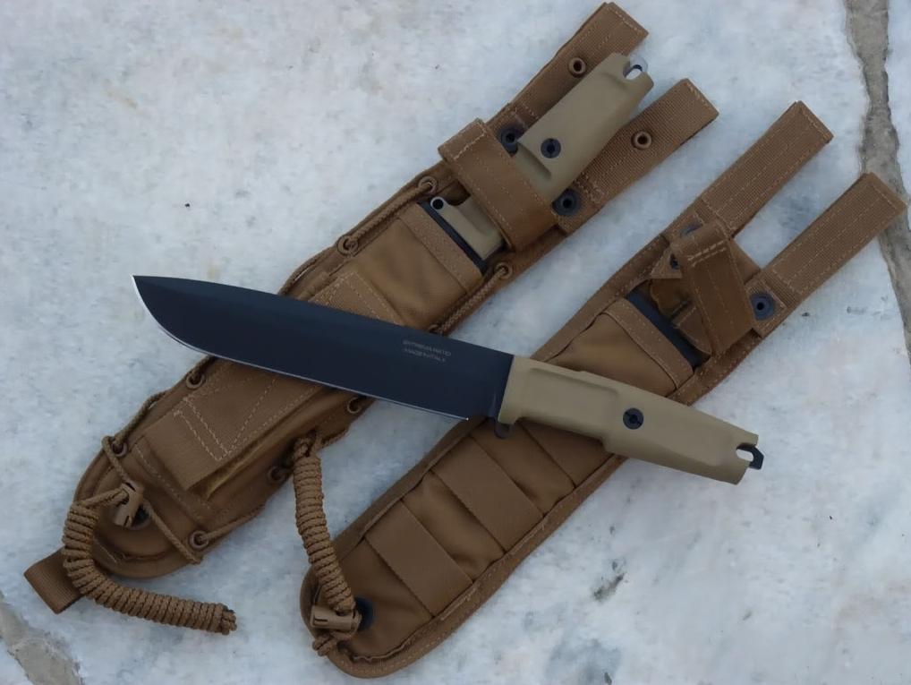 Фото 7 - Нож с фиксированным клинком Extrema Ratio TFDE 19 Black Blade, cталь Bhler N690, рукоять прорезиненный форпрен